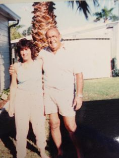 My Dad and I, in FL in the 90's! He passed away on 4/12/99.
