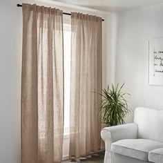 Ikea Curtains, Beige Curtains, Curtains Living, Curtains With Blinds, Panel Curtains, Curtain Panels, Curtains 2018, Short Window Curtains, Natural Curtains