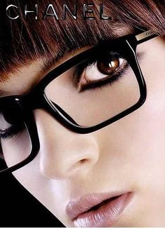 0cb3e6d8162727 Makeup and glasses Chanel Glasses, New Glasses, Girls With Glasses, Ray Ban  Sunglasses