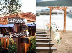 How fun are these DIY ceremony signs?