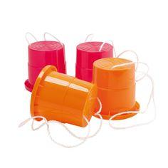 2 paires de sabots échasses roses et oranges Crazybul Oxybul pour enfant de  3 ans à 7 ans - Oxybul éveil et jeux 339af0b2677