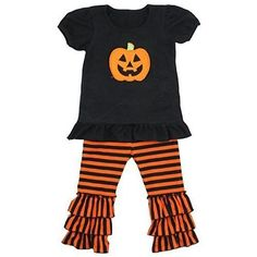Unique Baby Baby-Girls 2 Piece Pumpkin Outfit