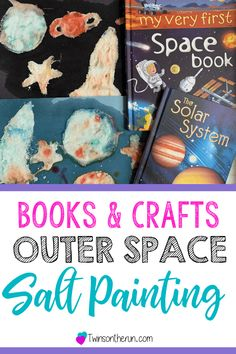 outer space salt painting for preschoolers