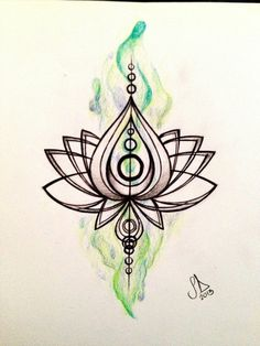 a white lotus flower representing (in buddihsm) the state of Bodhi: becoming awakened, when one reaches this state, it is said that one has mental purity and has reached a state of spiritual perfection. Trendy Tattoos, Love Tattoos, Beautiful Tattoos, Body Art Tattoos, New Tattoos, Popular Tattoos, Tattoo Henna, Lotus Tattoo, Snake Tattoo