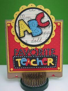 Hello Thursday - Cricut Nine Months, Love You A Latte, County Fair, Sweet Shop and Recess Lite Cartridges! Teacher Appreciation Cards, Teacher Cards, Teacher Gifts, Handmade Teachers Day Cards, Hello Thursday, Cricut Cards, Teachers' Day, School Themes, Graduation Cards