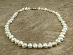 White Pearl Necklace 10  11 mm Κολιέ με Λευκά by AkoyaPearls, €76.00