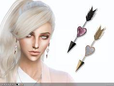 Amanda Earrings by toksik at TSR via Sims 4 Updates