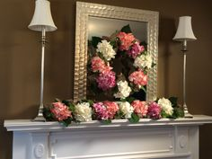 Hydrangea and Burlap Wreath or Garland Bursting with Blossoms! In pink (shown) or blue H202130 H202131  http://qvc.co/-Shop-ValerieParrHill