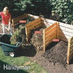 FamilyHandyman.com: Composting Tips - Kick your composting up a notch with these tips. -- Using this simple 3-bin composter you can turn yard and kitchen waste into rich compost in 4 to 6 weeks.