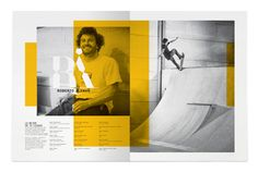 MagSpreads - Magazine Layout Design and Editorial Inspiration: Go Skateboarding Mag - Luis Vicente Hernandez Design Web, Web Design Mobile, Graphic Design Layouts, Page Design, Print Design, Editorial Design, Editorial Layout, Layout Inspiration, Graphic Design Inspiration