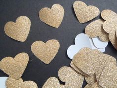 gold glitter heart paper confetti christmas weddin - http://www.babyshower-decorations.com/gold-glitter-heart-paper-confetti-christmas-weddin/