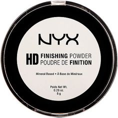 NYX HD Finishing Powder A lightweight, translucent finishing powder that helps soften the appearance of fine lines and pores. NYX Cosmetics HD Finishing Powder is a silky pressed powder with a fresh, matte finish.