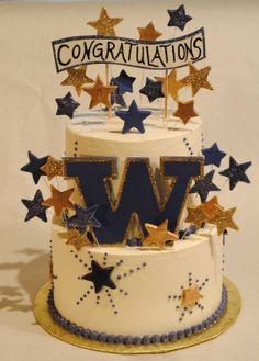 UW- University of Washington-Graduation Cake . UW University of Washington-Abschluss-Kuchen mehr College Graduation Cakes, Graduation Desserts, Graduation Cookies, Graduation Party Decor, Graduation Ideas, Graduation Cake Designs, Graduation Celebration, Cupcakes, Cupcake Cakes
