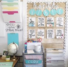 Spring is in the air 🌿🌸🌿🌼 and I'm so ready for a week full of rest, relaxation, and some much needed family time! Classroom Layout, Classroom Decor Themes, Classroom Setting, Classroom Design, Classroom Organization, Classroom Ideas, Classroom Supplies, Classroom Rules, Classroom Displays