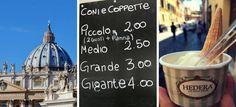 Mini guia de sorveterias em Roma