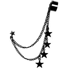 Accessories | Hot Topic ($8.50) ❤ liked on Polyvore featuring jewelry, earrings, accessories, piercings, brincos, star earrings, star charms, ear cuff jewelry, chains jewelry and chain earrings