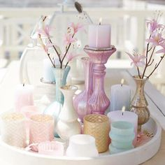 Candleholders/Vases Love the pastels