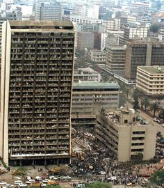 embassy-truck-bombing, 1998 bombings of US Embassies in Nairobi, Kenya, and Dar es Saleem, Tanzania. Most casualties were indigenous civilians. Twelve Americans killed.