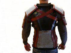 Armadura GERALT de RIVIA Witcher 3 Realizada en cuero y anillas metáticas #geraltderivia
