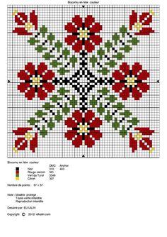 "ru / Фото - nostra - ergoxeiro ""Another cross stitch pattern to try to adapt to loom"" Biscornu Cross Stitch, Fall Cross Stitch, Free Cross Stitch Charts, Cross Stitch Freebies, Cross Stitch Borders, Cross Stitch Flowers, Cross Stitch Designs, Cross Stitching, Cross Stitch Embroidery"