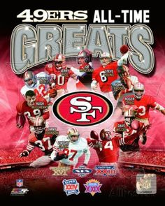 San Francisco 49ers All-Time Greats Composite Photo