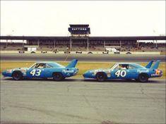 Ricard Petty & Pete Hamilton Petty Superbirds Daytona 1970. http://www.pinterest.com/jr88rules/old-school-nascar/ #OLDSCHOOLNASCAR