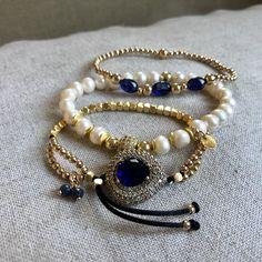 Natural Beautiful Blue Gold grès quartz Crysta Bead Bracelet 8 mm