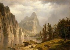 Albert Bierstadt (1830-1902) — Merced River, Yosemite Valley (857x1199)