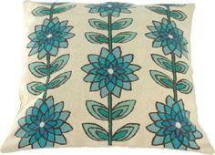 Kussen Lotus blauw