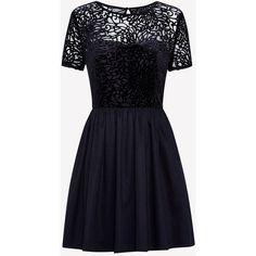 PEMBURY DEVOUR TEA DRESS (390 PEN) ❤ liked on Polyvore featuring dresses, jack wills, blue dresses, blue tea dress, jack wills dresses and blue color dress