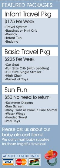 Orlando Baby Equipment Rental Prices