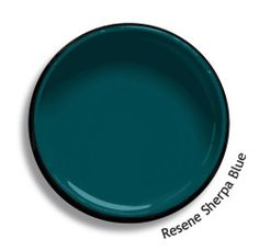 Resene Sherpa Blue is a proud peacock blue green, precise and composed. View this and of other colours in Resene's online colour Swatch library Blue Green Paints, Green Paint Colors, Interior Paint Colors, Teal Wall Colors, Teal House, House Colors, Paint Swatches, Color Swatches, Resene Colours