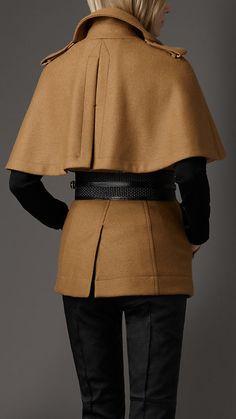 Burberry - Wool Cape Coat