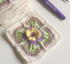 Longing for spring square by Ellinor Widéen - free crochet pattern in English or Swedish at  Frostvirka