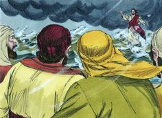 Jesus & Peter walk on Water lesson, ideas and printables #Biblefun #bookofacts #NTBiblelesson