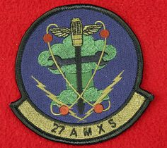 11985- USAF Patch 27th Air Maintenance Squadron Air Force Military Insignia AMXS picclick.com