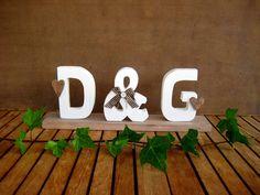 Geldgeschenke - ♥ 35 cm Dekoboard Initialien Brautpaar, Farbwahl♥ - ein Designerstück von Sternenglanz-Clemens bei DaWanda