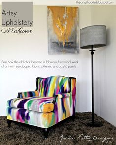 I had wanted to do something with this particular chair for months and finally decided to be a little crazy and try painting the ...