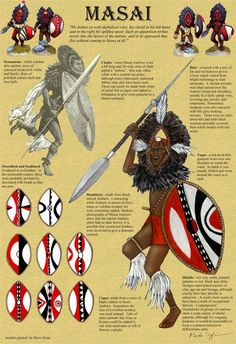 Fearless, pastoral nomads who pursued their dream of gathering more cattle, the haughty, savage & spectacular Masai terrified the Zanzibari Slavers. Zulu Warrior, Tribal Warrior, Woman Warrior, African Culture, African American History, African Tattoo, African Warrior Tattoos, African Mythology, Afrique Art