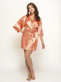 Orange Satin Robes Bridesmaid Robes Bride Robes