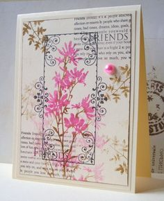 https://flic.kr/p/j1mzpL | Cherish | I have used this design before with other Real Flowers from Hero Arts. This is the new one which is in the cherish set, but I don't know what its called... it looks like a Lupine, such a versatile stamp!