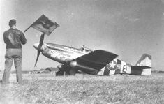 361st FG P-51 about to take off from Bottisham