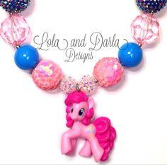 My little pony necklace chunky necklace bubblegum necklace birthday necklace girls necklace fun necklace toddlers  via Etsy
