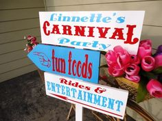 Directional Arrow Sign CUSTOM Carnival Party by OurHobbyToYourHome