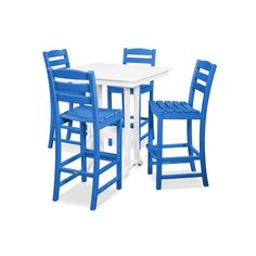 POLYWOOD® La Casa Café 5-Piece Farmhouse Bar Set - PWS435-1 | POLYWOOD® Official Store Outdoor Dining, Outdoor Decor, Bar Set, Cafe Bar, Coastal Style, Dining Set, Side Chairs, Outdoor Furniture Sets, Home And Garden