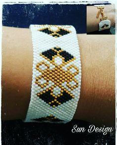 Miyuki bileklik #miyuki #bileklik #beads #pattern #fashion #gold #tasarım #takı #jewellery #design #bracelets #bileklik