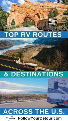 Planning an RV or camper van road trip? This full-time RVing couple who are living, traveling, and working from the road share their routes and top places to camp, things to do, and national parks to visit! They also have tons of RV life resources on thei Suv Camping, Camping Hacks, Camping Diy, Retro Camping, Family Camping, Family Travel, Camping Checklist, Camping Supplies, Camping Cabins