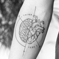 Tattoo Man And Woman : Anatomical Heart Tattoo - # Trend # Hörtattoo # . Mini Tattoos, Small Tattoos, Tattoos For Guys, Tattoos For Women, Best Female Tattoos, Modern Tattoos, Unique Tattoos, Forearm Tattoos, Body Art Tattoos