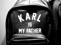 KARL IS MY FATHER #elevenparis #fw15 #fashion #paris #karl #bag #leather verozitas.vixen.no