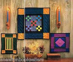 amish quilt patterns | Pattern to Make 3 MINIATURE AMISH QUILTS 3 SIZES ~~ Craft PATTERN